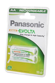 Pile rechargeable EVOLTA AA LR6 X2 1900 mAh Panasonic