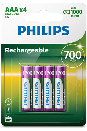 Pile rechargeable Philips PILES RECHARGEABLE AAA LR03 700 MAH