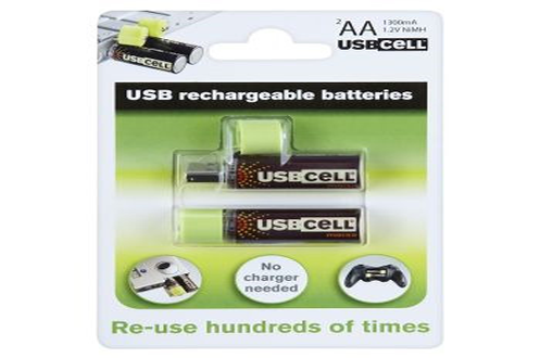 Pile rechargeable LR06 AA x2 USB Usbcell