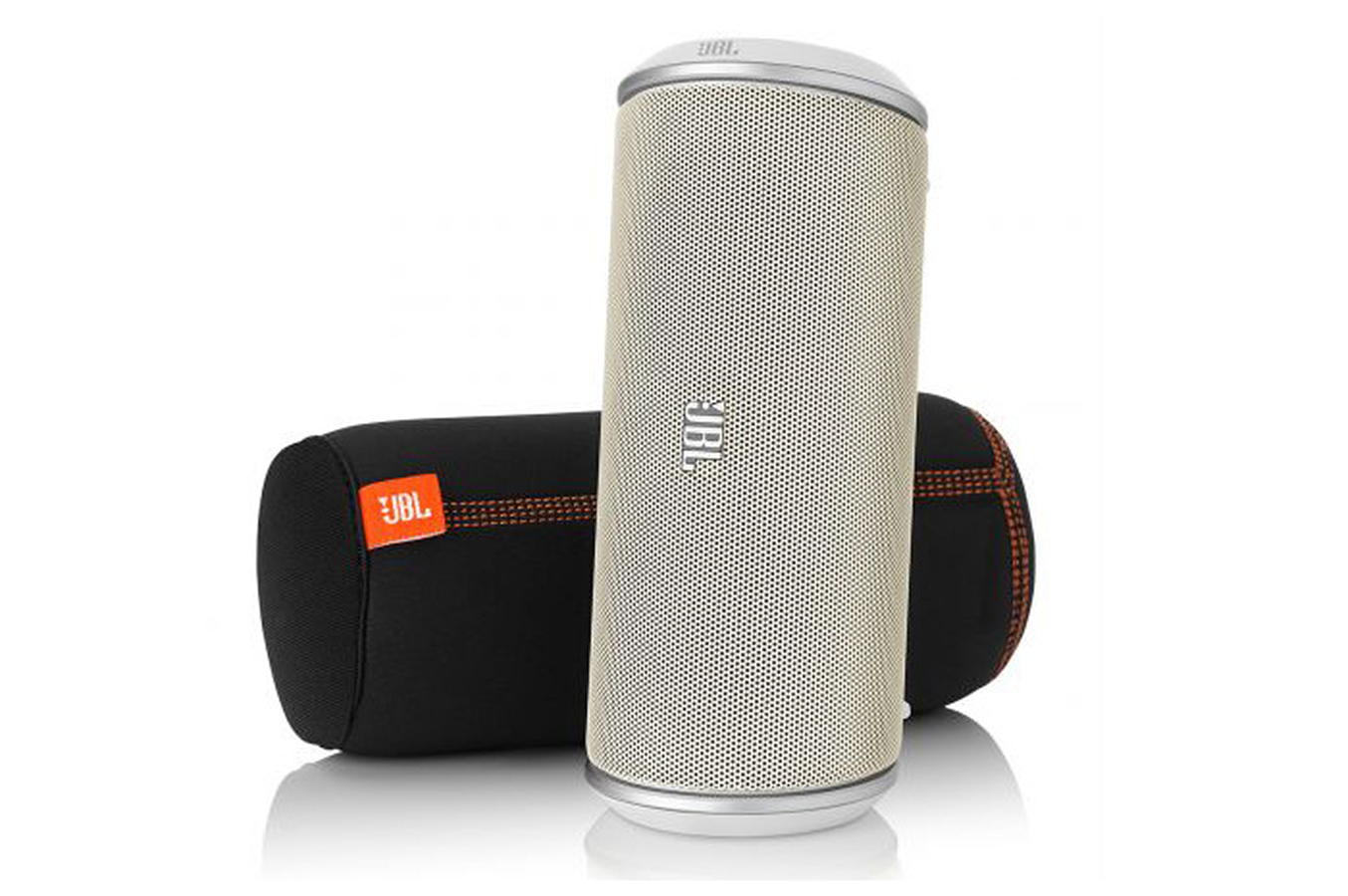 enceinte bluetooth sans fil jbl on tour flip blanc 1359355 darty. Black Bedroom Furniture Sets. Home Design Ideas