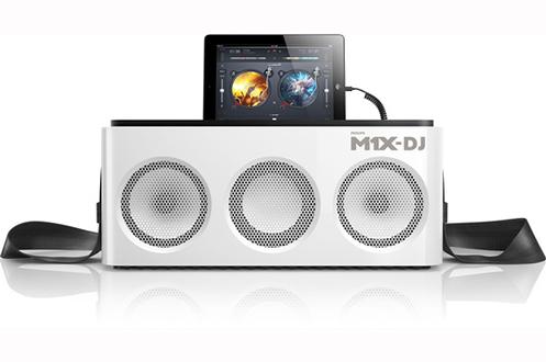 Station d'accueil dédiée Apple - Connecteur lightning Connectivité sans fil Bluetooth Fonction DJ - Mixez avec les molettes de scratch Puissance de sortie 80W RMS