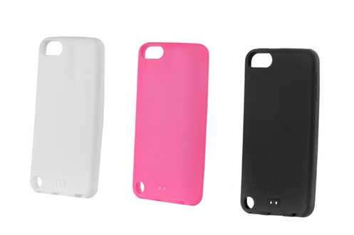 Pack 3 coques silicone iPod Touch 5G noir,blanc et rose
