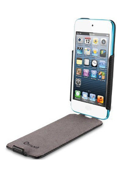 Housse / protection pour iPod ETUI FLIP cover NOIR POUR APPLE IPOD TOUCH 5 6G Muvit