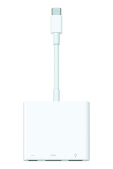 Connectique pour Mac Adaptateur multiport AV numérique USB-C (MJ1K2ZM/A) Apple