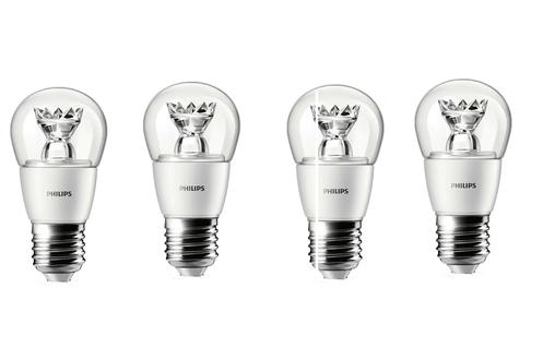 Ampoule LED Philips SPHERIQUE - 3W(25W) - CULOT E27 x4