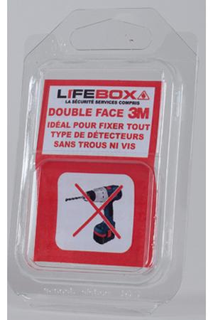 pack d tecteur de fum e lifebox detecteur de fumee monoxyde de carbone double face. Black Bedroom Furniture Sets. Home Design Ideas