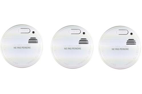 Détecteur de fumée PACK 3 DÉTECTEURS DE FUMÉE 520032 NF 1 an Otio eee2ef1ae806