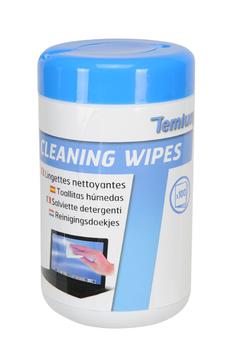 Nettoyage informatique Boîte de 100 lingettes nettoyantes multiusage Temium