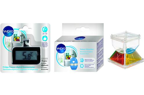 Accessoire pour réfrigérateur / congélateur Kit accessoires Froid FREEZCUBE Thermomètre Désodorisant Wpro