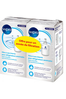 Accessoire Réfrigérateur et Congélateur Wpro Pack Filtres Internes BSMG001 Réfrigérateur
