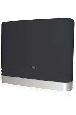 Cgv Antenne d'intérieur TNT HD amplifiée. Gain réglable. coloris noire laqué.
