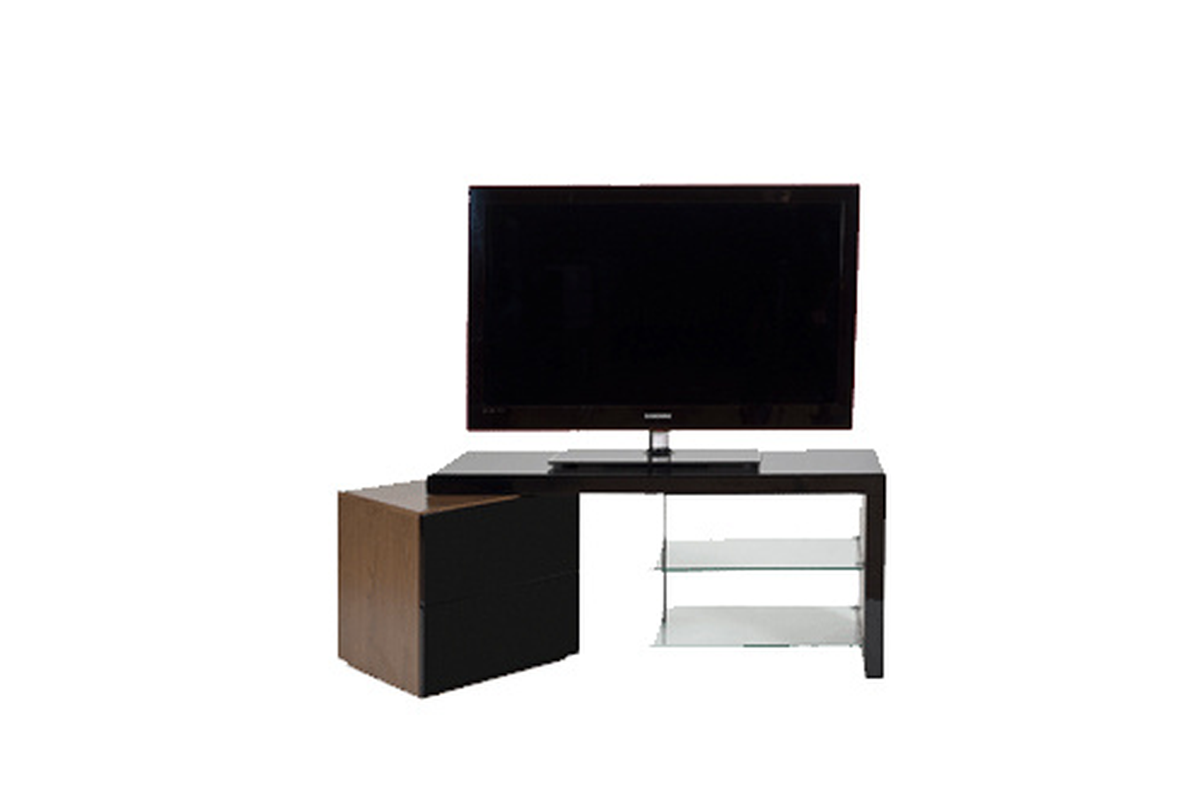 Meuble TV Ateca AT 359 QUARTZ BLACK  AT359 (3148572)  Dar -> Meuble Tv Ateca