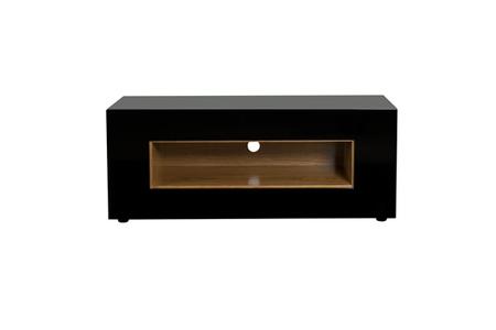 meuble tv ateca virtuose noir virtuose00238 darty. Black Bedroom Furniture Sets. Home Design Ideas