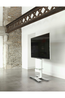 interesting meuble tv meuble tv will blanc avec tablette erard with etagere murale sous tv. Black Bedroom Furniture Sets. Home Design Ideas