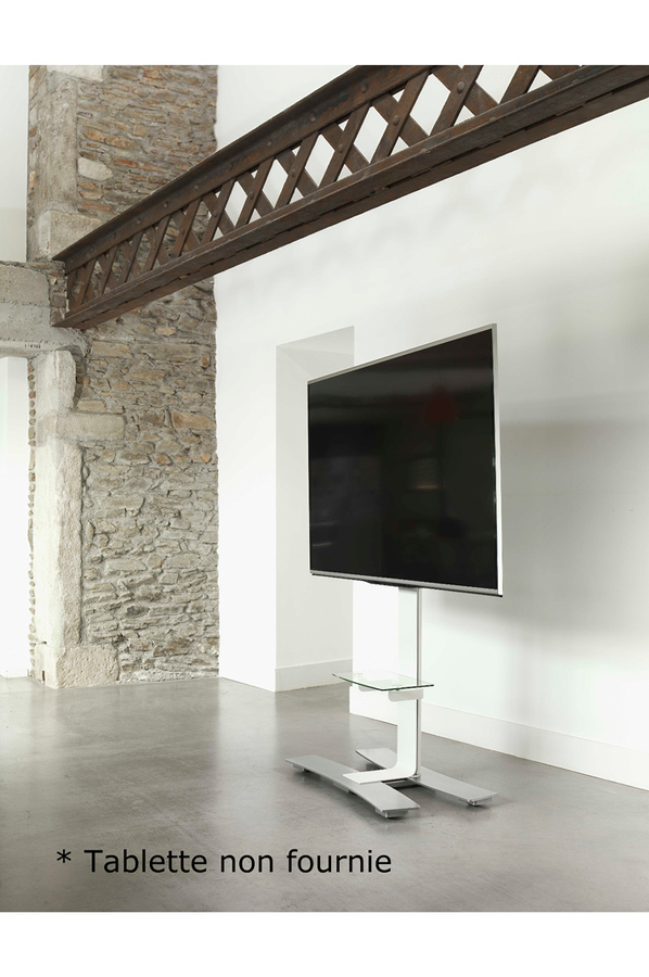 Meuble tv erard meuble tv will 1400 blanc 4238940 darty for Meuble tv hauteur 80