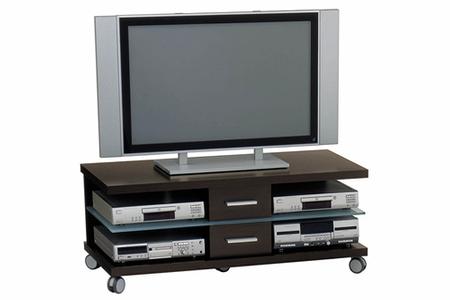 meuble tv jahnke pr 390 wenge noir darty. Black Bedroom Furniture Sets. Home Design Ideas