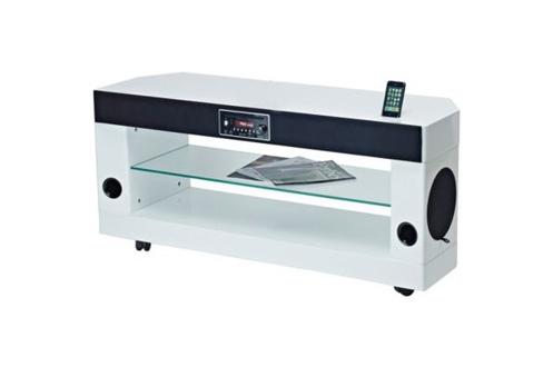 meuble tv soundvision sv 300w blanc sv300w 3691977. Black Bedroom Furniture Sets. Home Design Ideas