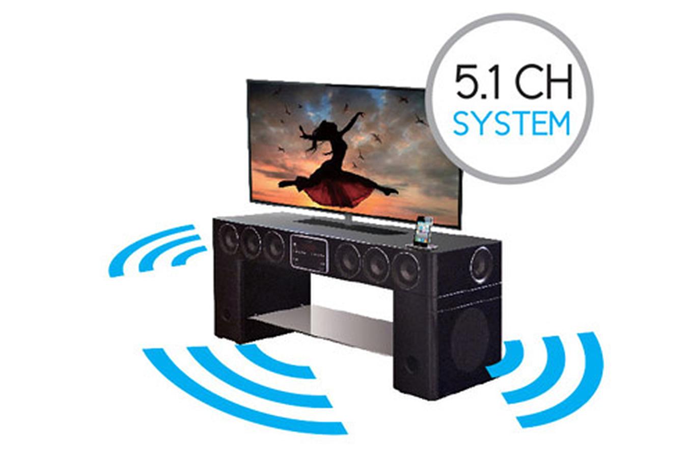 meuble tv soundvision sv 400b noir sv400b 3691985 darty. Black Bedroom Furniture Sets. Home Design Ideas