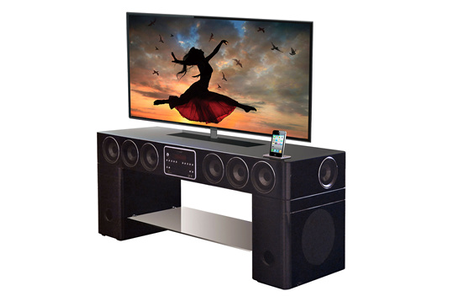 meuble tv soundvision sv 400b noir sv400b darty. Black Bedroom Furniture Sets. Home Design Ideas