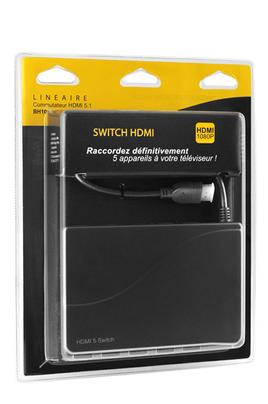 Boîtier de répartition vidéo COMMUTATEUR HDMI 5 SOURCES Lineaire