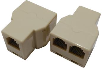 Cordon et fiche téléphone ADAPTATEUR 1 RJ11/2RJ11 FEMELLE Plug It