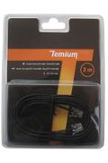 Cordon et fiche téléphone Temium CORDON TELEPHONIQUE 3M RJ11 MALE / RJ11 MALE