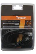 Cordon et fiche téléphone Temium CORDON TELEPHONIQUE 5 M RJ11 MALE / RJ11 MALE