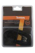 Cordon et fiche téléphone Temium CORDON TELEPHONIQUE 5M RJ11 MALE / RJ11 MALE