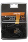 Cordon et fiche téléphone Temium CORDON TELEPHONIQUE 10M RJ11 MALE / RJ45 MALE