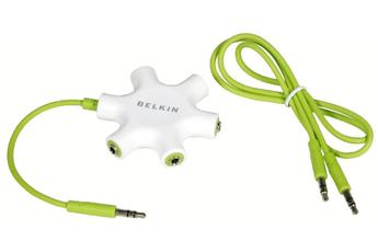 Câble / Connectique Diviseur casque Rockstar F8Z274EA Belkin