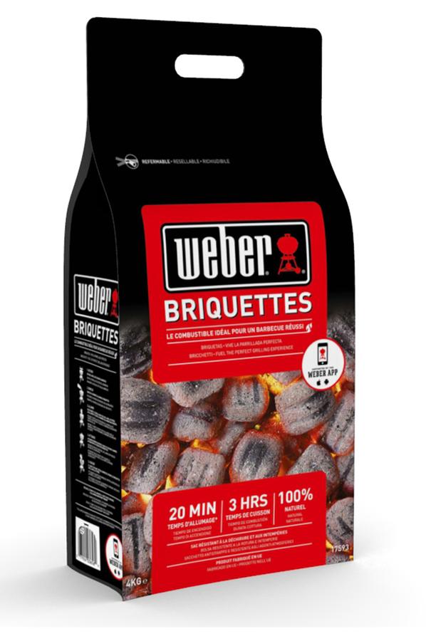 accessoire barbecue plancha weber briquette 4 kg 4208315 darty. Black Bedroom Furniture Sets. Home Design Ideas