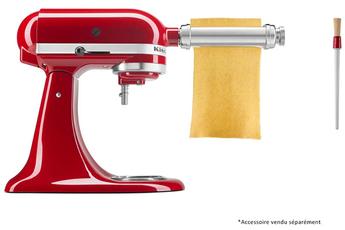 Accessoire robot Kitchenaid 5KSMPSA Laminoir à pâtes inox pour robot artisan