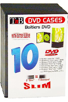 Rangement cd dvd tnb 10 boites dvd slim