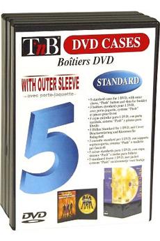 Rangement CD / DVD 5 BOITES DVD Tnb