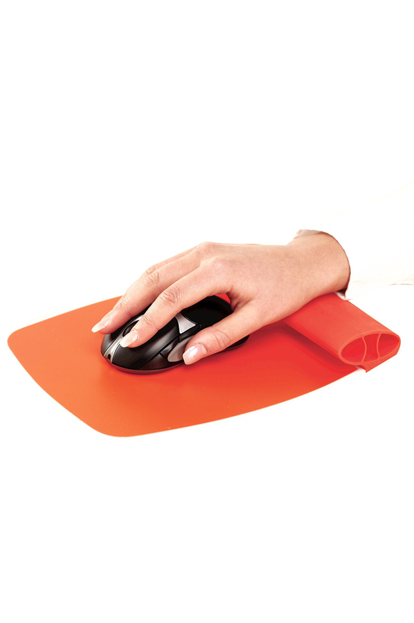 Tapis De Souris Fellowes Tapis Ergo Orange 4215133 Darty