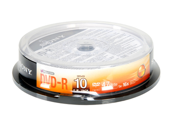 CD / DVD / Blu-Ray DVD-R SP x 10 NEW Sony
