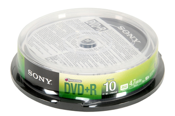 CD / DVD / Blu-Ray DVD+R 4,7 16X SPINDLE X10 Sony
