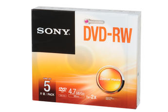 CD / DVD / Blu-Ray Pack de 5 DVD-RW 4.7GB Sony