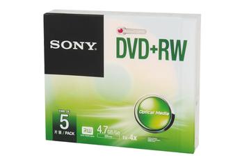 CD / DVD / Blu-Ray DVD+RW Boitier individuel X5 Sony