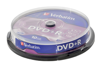 CD / DVD / Blu-Ray DVD+R 4,7 16X SP X10 Verbatim