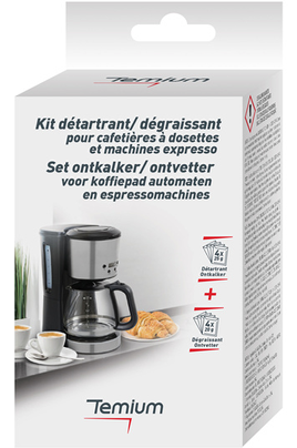 Nettoyant et détartrant pour cafetière Temium DETARTRANT EN SACHETS TEM100