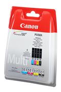 Cartouche d'encre Canon PACK CLI-551 (1 NOIR + 1 CYAN + 1 MAGENTA + 1 JAUNE)