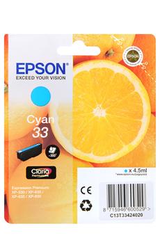 Cartouche d'encre Orange T3342 Cyan Epson