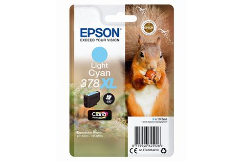 Cartouche d'encre Epson 378 Gamme Ecureuil, contenance XL Cyan clair