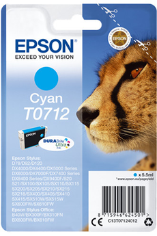 Cartouche d'encre Guepard T0712 cyan Epson