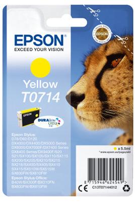Cartouche d'origine Epson T0714 Jaune