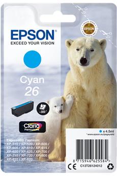 Cartouche d'encre ours T2612 cyan Epson