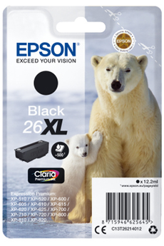 Cartouche d'encre ours T2621 XL noir Epson