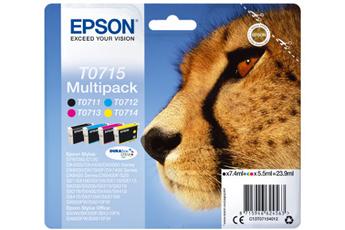 Cartouche d'encre MULTIPACK 4 COULEURS T0715 Epson