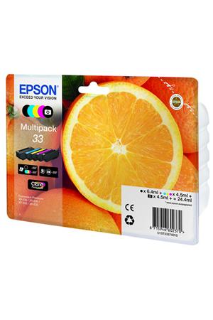 cartouche d 39 encre epson pack orange t3337 5 couleurs darty. Black Bedroom Furniture Sets. Home Design Ideas